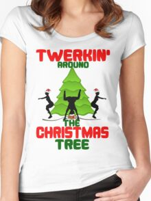 Twerk'n around the Christmas tree Women's Fitted Scoop T-Shirt