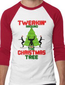 Twerk'n around the Christmas tree Men's Baseball ¾ T-Shirt