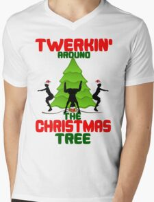 Twerk'n around the Christmas tree Mens V-Neck T-Shirt