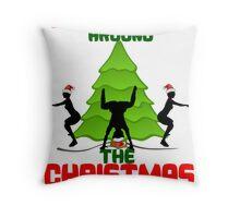 Twerk'n around the Christmas tree Throw Pillow