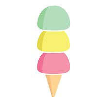 Simple Pastel Scoops by Lauramazing