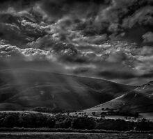 Sunrays over Black Combe by Alan E Taylor