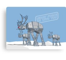 Merry Force Be With You Canvas Print