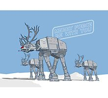 Merry Force Be With You Photographic Print