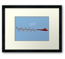 Season's Geekings - Sleigh Framed Print