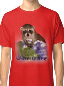 Celebrate Earth Day Raccoon Classic T-Shirt