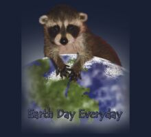 Earth Day Everyday Raccoon Kids Clothes