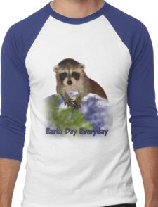 Earth Day Everyday Raccoon Men's Baseball ¾ T-Shirt