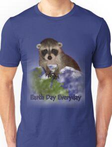 Earth Day Everyday Raccoon Unisex T-Shirt