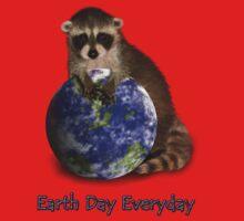 Earth Day Everyday Raccoon One Piece - Long Sleeve
