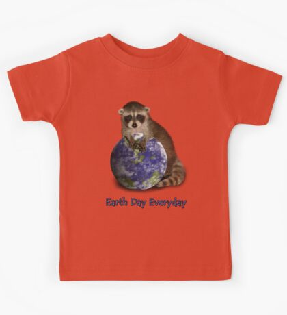 Earth Day Everyday Raccoon Kids Tee