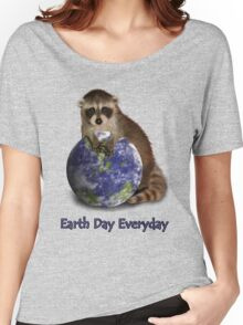 Earth Day Everyday Raccoon Women's Relaxed Fit T-Shirt