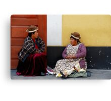 Coca Leaf Readers Canvas Print