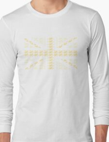 Bike Flag United Kingdom (Yellow - Small) Long Sleeve T-Shirt