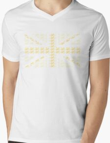 Bike Flag United Kingdom (Yellow - Small) Mens V-Neck T-Shirt