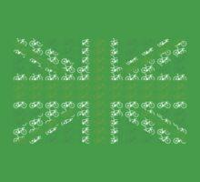 Bike Flag United Kingdom (Green - Small) Baby Tee