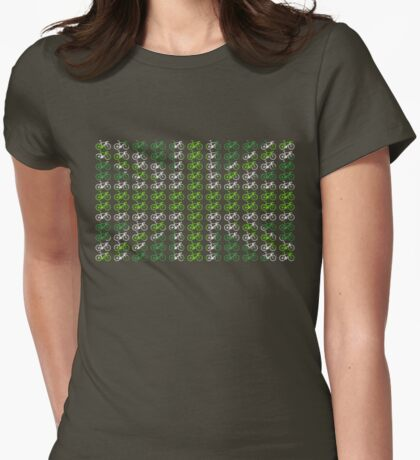 Bike Flag United Kingdom (Green - Small) Womens Fitted T-Shirt