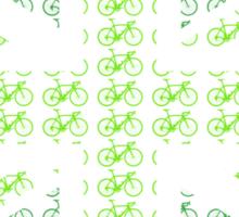 Bike Flag United Kingdom (Green - Small) Sticker