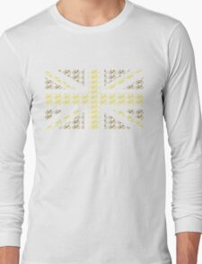 Bike Flag United Kingdom (Gold - Small) Long Sleeve T-Shirt
