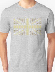 Bike Flag United Kingdom (Gold - Small) T-Shirt