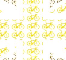 Bike Flag United Kingdom (Gold - Small) Sticker