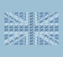 Bike Flag United Kingdom (Blue - Small) Kids Tee