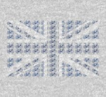 Bike Flag United Kingdom (Blue - Small) by sher00