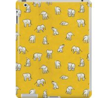 Indian Baby Elephants Yellow iPad Case/Skin