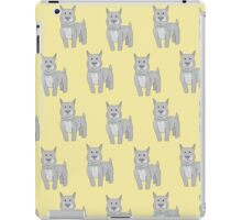 Pit Bull on Yellow iPad Case/Skin