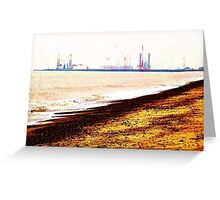 Great Yarmouth Docks- One Greeting Card