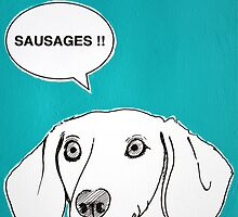 Sausages ( Teal ) by Adam Regester