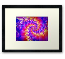 Multi-Coloured Spiral Fractal Framed Print