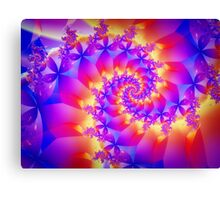 Multi-Coloured Spiral Fractal Canvas Print