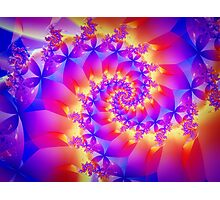 Multi-Coloured Spiral Fractal Photographic Print