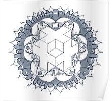 Sacred Cube Mandala Poster