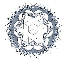 Sacred Cube Mandala Photographic Print