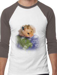 Earth Day Hamster Men's Baseball ¾ T-Shirt
