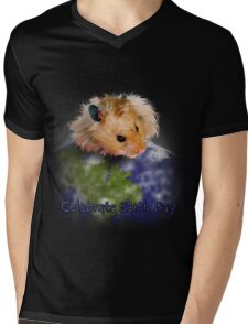 Celebrate Earth Day Hamster Mens V-Neck T-Shirt
