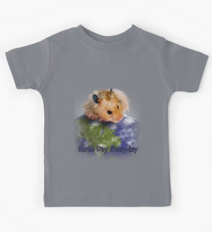 Earth Day Everyday Hamster Kids Tee