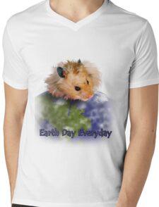 Earth Day Everyday Hamster Mens V-Neck T-Shirt