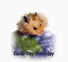 Earth Day Everyday Hamster Womens Fitted T-Shirt