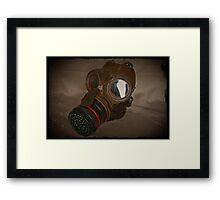 Steampunk Retro Respirator Framed Print
