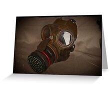 Steampunk Retro Respirator Greeting Card