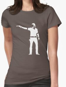 Rick (white) Womens Fitted T-Shirt