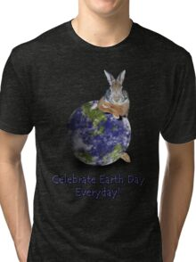 Celebrate Earth Day Everyday Bunny Tri-blend T-Shirt