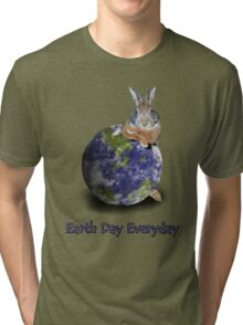 Earth Day Everyday Bunny Tri-blend T-Shirt