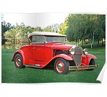 1931 Ford Model A Roadster Poster