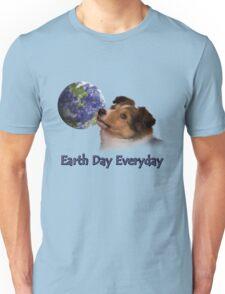 Earth Day Everyday Sheltie Puppy Unisex T-Shirt