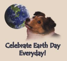 Celebrate Earth Day Everyday Sheltie by jkartlife