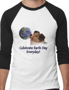 Celebrate Earth Day Everyday Sheltie Men's Baseball ¾ T-Shirt